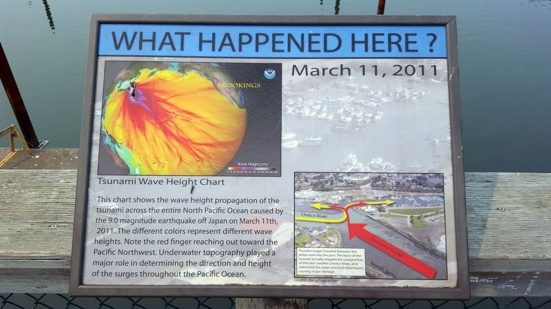 March 11, 2011 Tsunami Marker image, Touch for more information