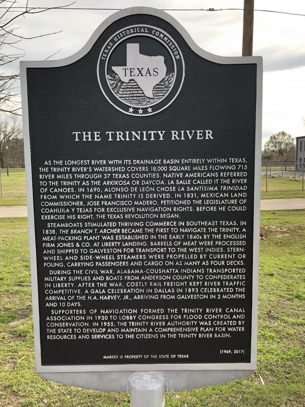 The Trinity River Marker image. Click for full size.