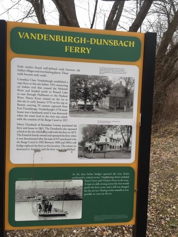 Vandenbergh Dunsbach Ferry Marker image. Click for full size.