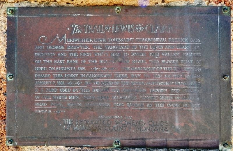 The Trail of Lewis & Clark Marker image. Click for full size.