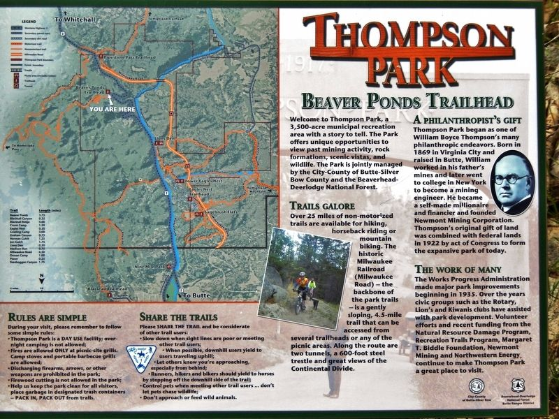 Thompson Park Marker image. Click for full size.