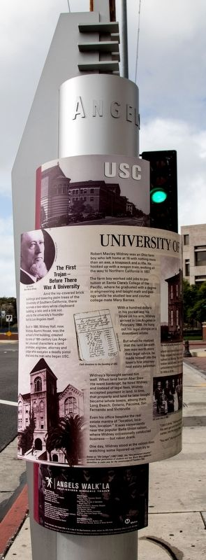 University of Southern California Marker, left view image. Click for full size.
