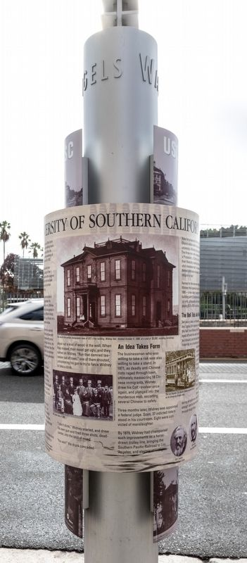 University of Southern California Marker, center view image. Click for full size.