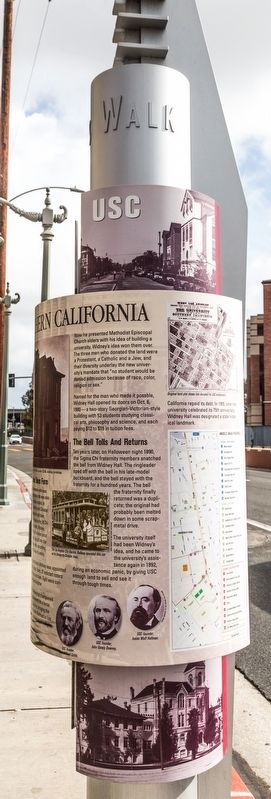 University of Southern California Marker, right view image. Click for full size.