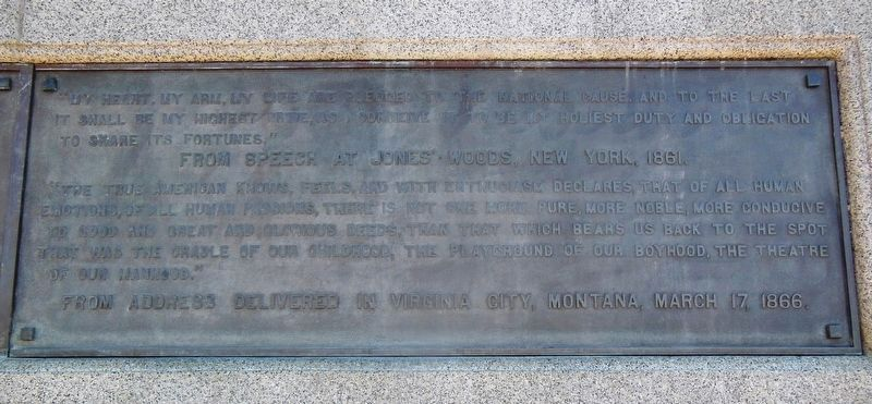 Thomas Francis Meagher Memorial (right panel) image. Click for full size.