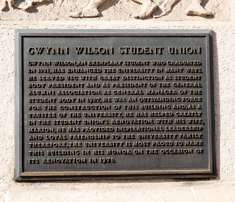 Gwynn Wilson Student Union Tablet image. Click for full size.