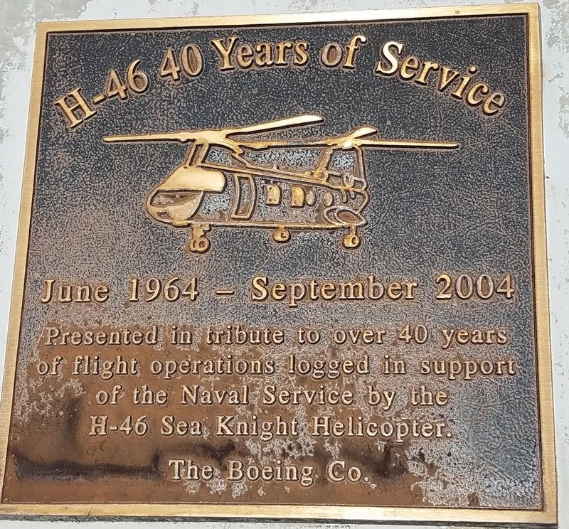 H-46 40 Years of Service Marker image. Click for full size.