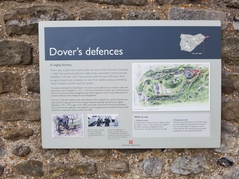 Dover's defences Marker image. Click for full size.