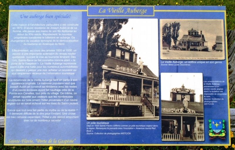 <i>La Vielle Auberge / The Old Inn</i> Marker image. Click for full size.