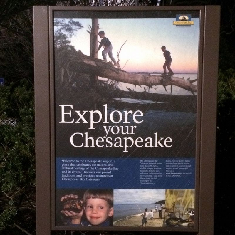 Explore your Chesapeake Marker, vertical wayside image. Click for full size.
