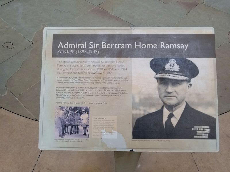 Admiral Sir Bertram Home Ramsay Marker image. Click for full size.