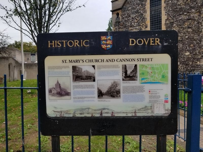 St. Mary's Church and Cannon Street Marker image. Click for full size.