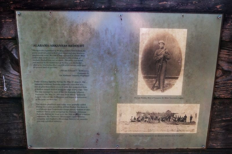 Alabama-Arkansas Redoubt Marker image. Click for full size.