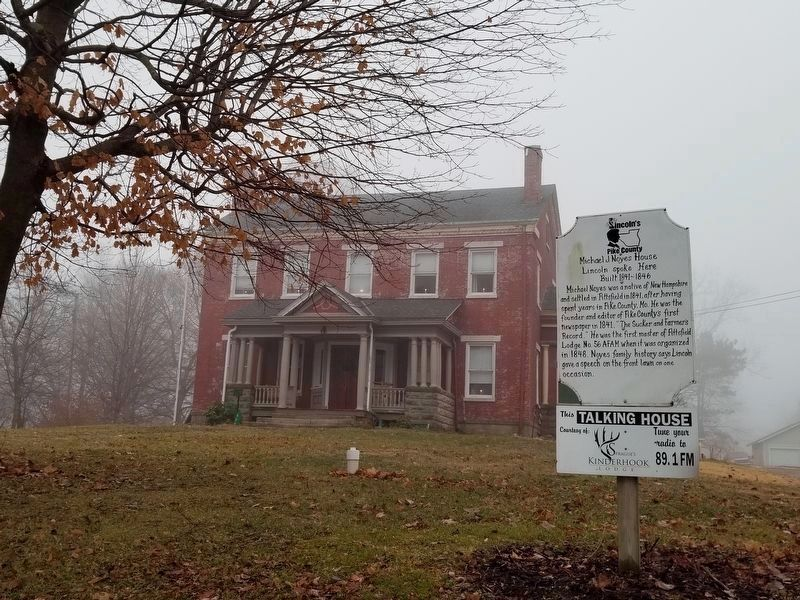 Michael J. Noyes House & Marker image. Click for full size.