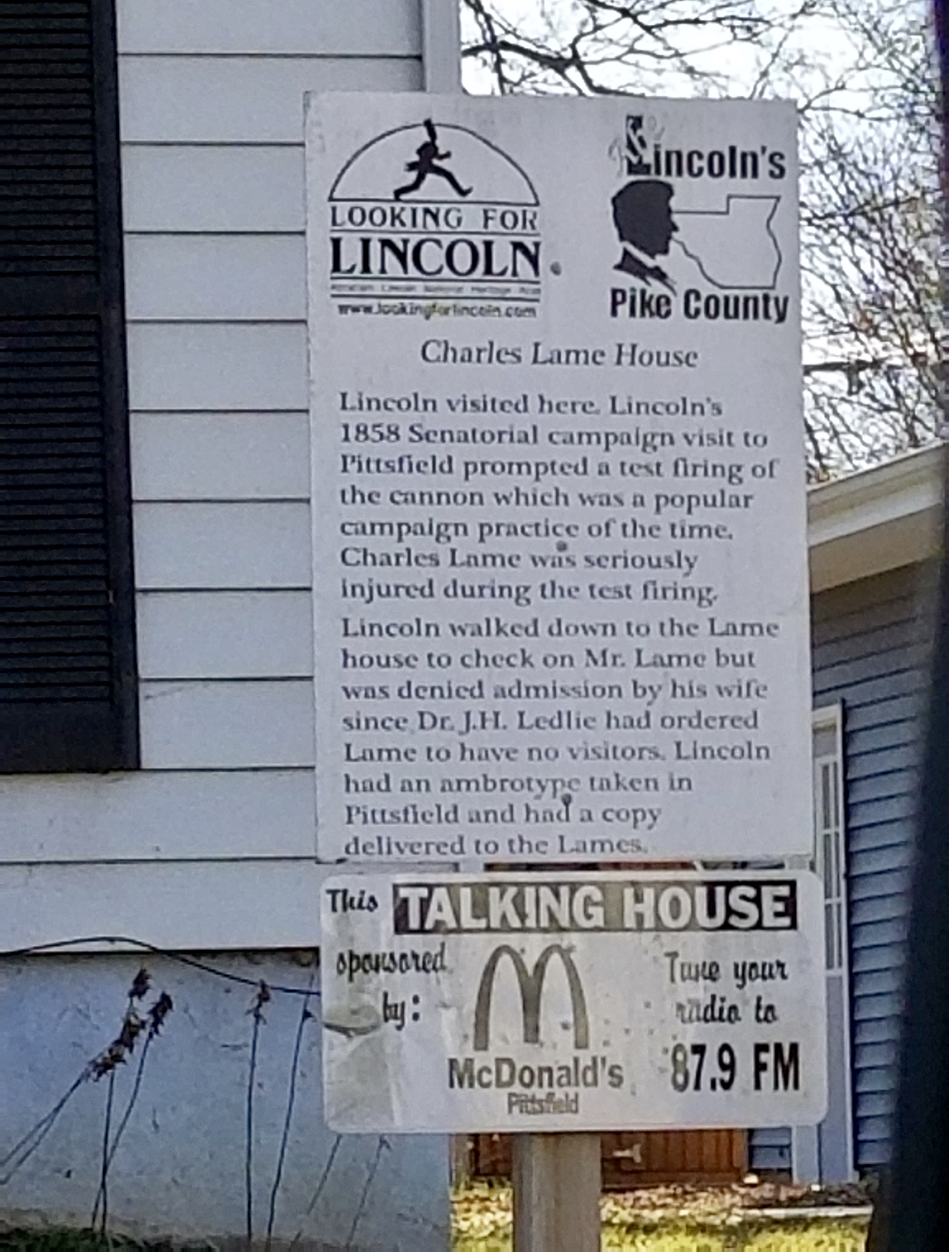 Charles Lame House Marker