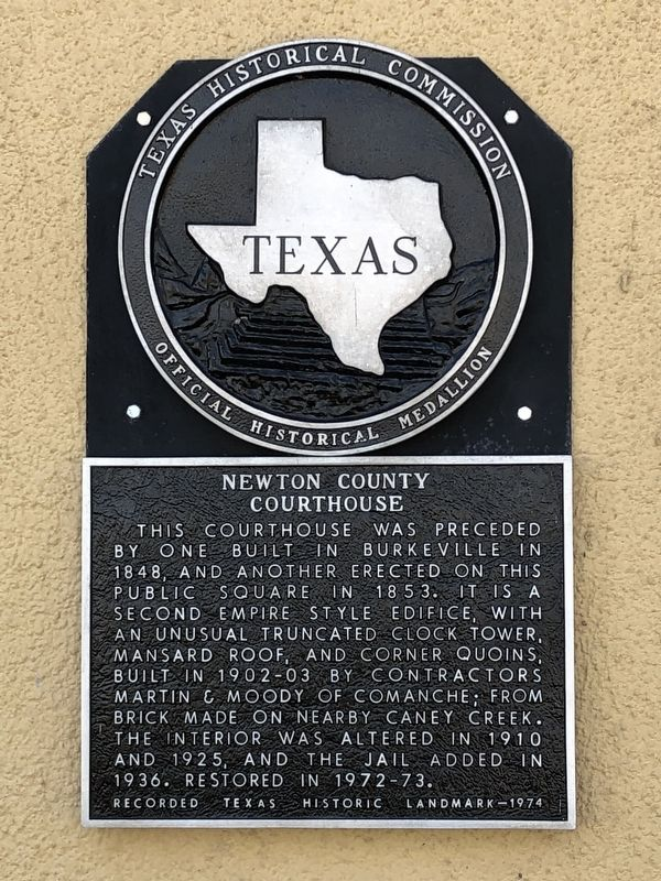 Newton County Courthouse Marker image. Click for full size.