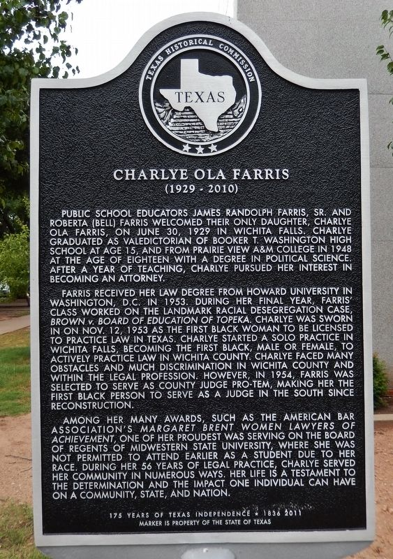 Charlye Ola Farris Marker image. Click for full size.