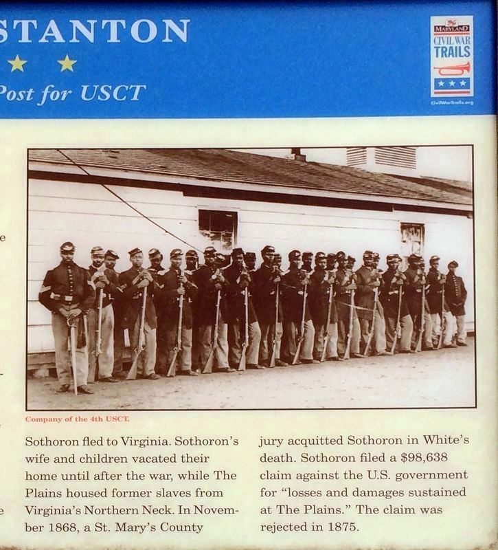 Right half of the Camp Stanton Marker image. Click for full size.