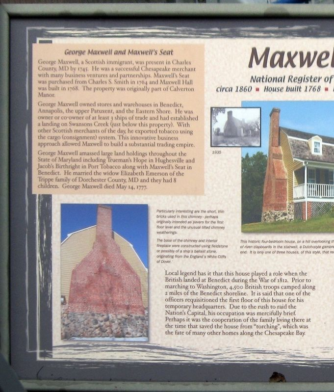 Left half of the Maxwell Hall Marker image. Click for full size.