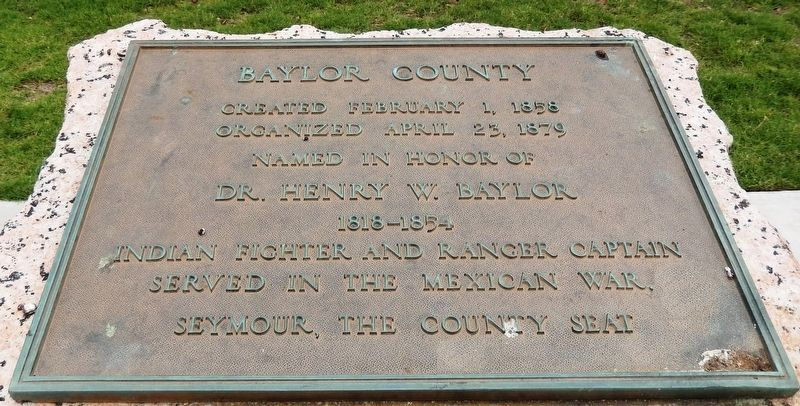 Baylor County Marker image. Click for full size.