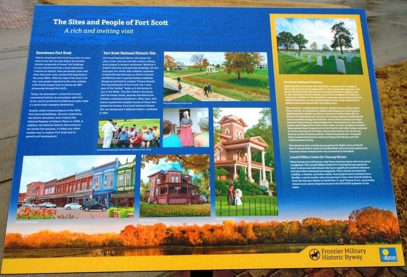 The Sites and People of Fort Scott Marker image. Click for full size.