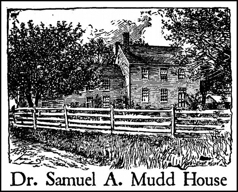 Dr. Samuel A. Mudd House image. Click for full size.