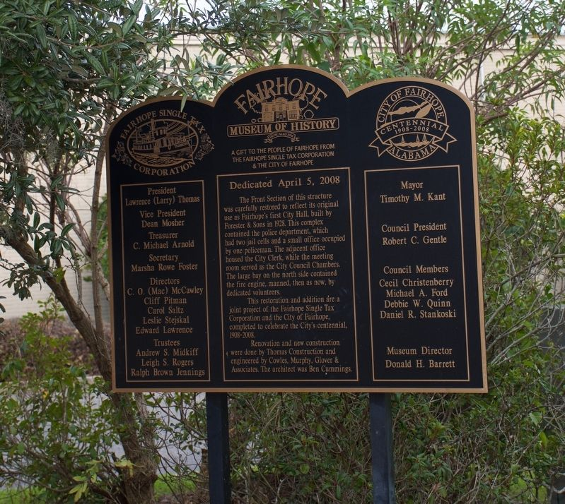 Fairhope Museum of History Marker image. Click for full size.