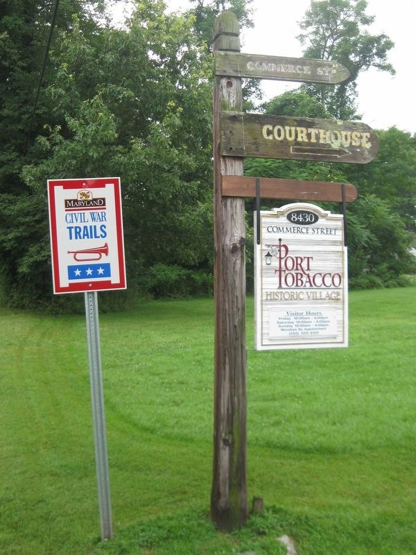 Port Tobacco Village Signs Along Chapel Point Road. image. Click for full size.
