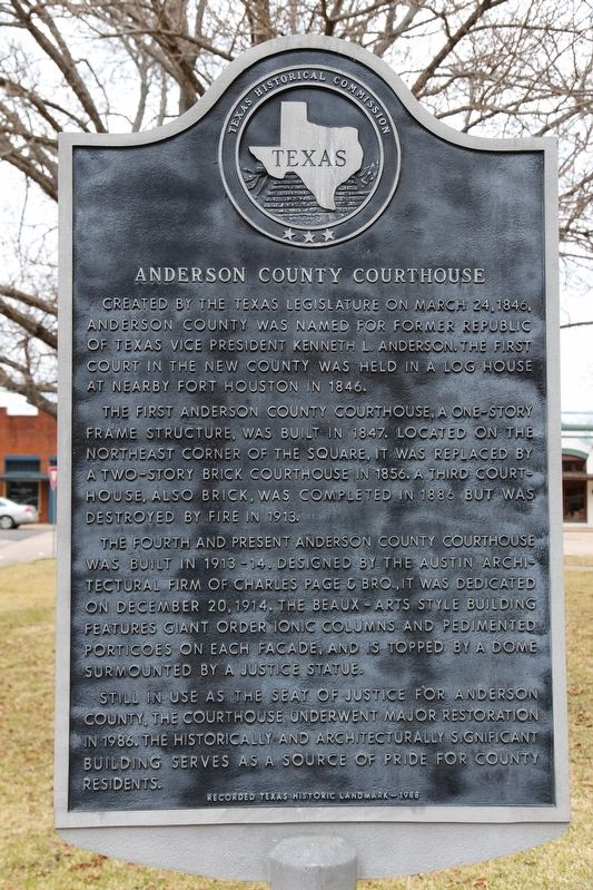 Anderson County Courthouse Marker image. Click for full size.