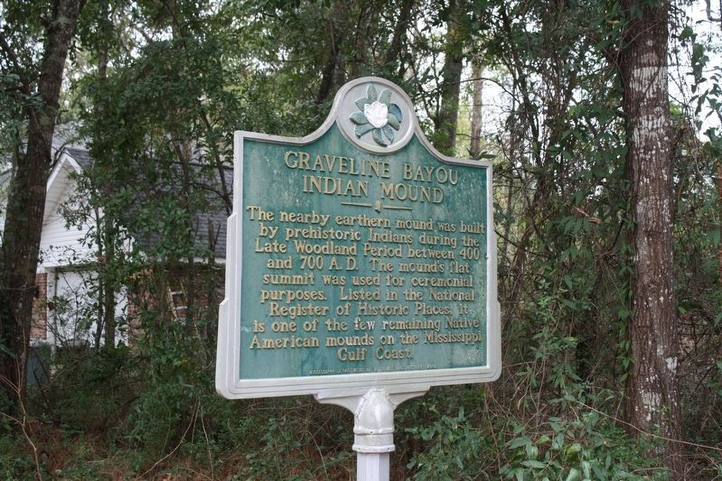 Graveline Bayou Indian Mound Marker image. Click for full size.