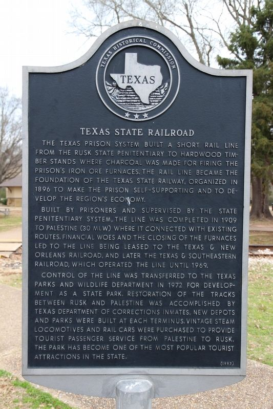 Texas State Railroad Marker image. Click for full size.