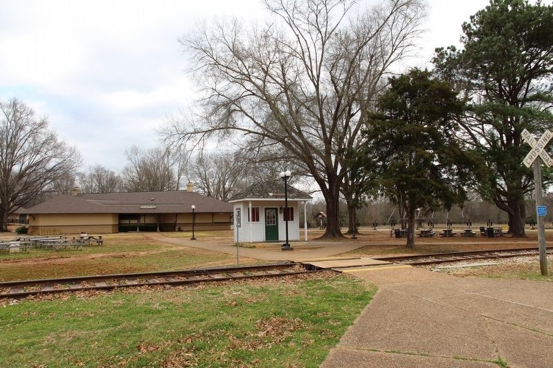 Texas State Railroad Palestine Depot image. Click for full size.