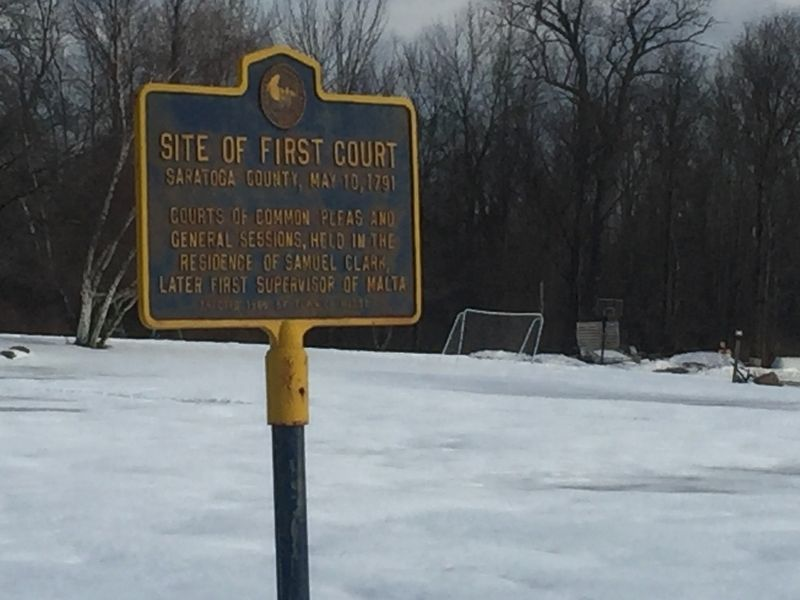 Site of First Court Marker image. Click for full size.