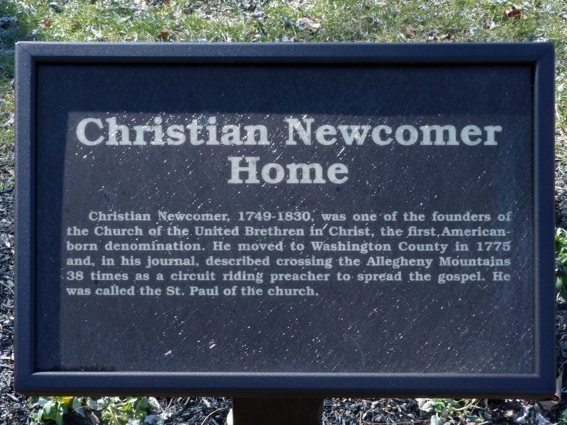 Christian Newcomer Home Marker image. Click for full size.