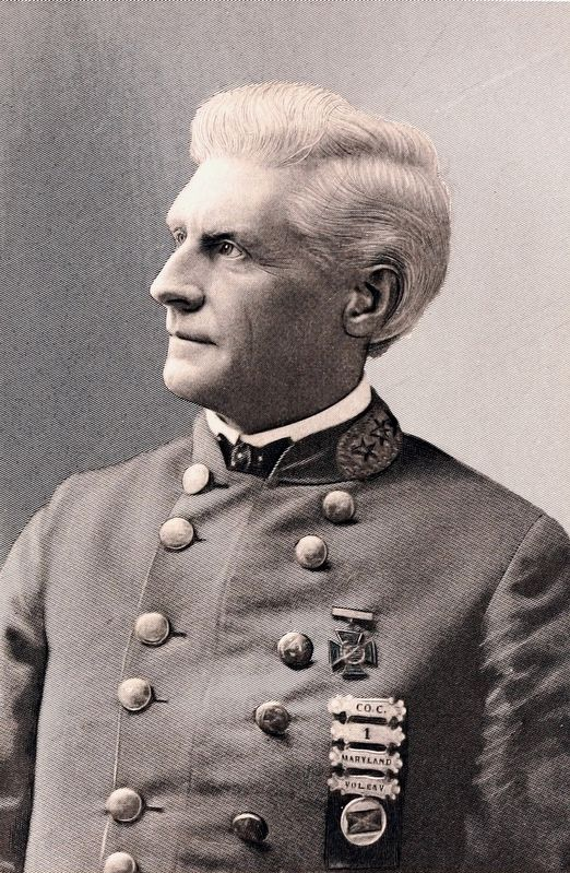 James MacGill, later in life, wearing his veterans' organization uniform. image. Click for full size.