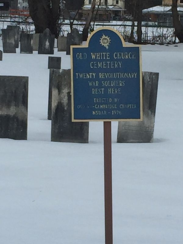 Old White Church Cemetery Marker image. Click for full size.