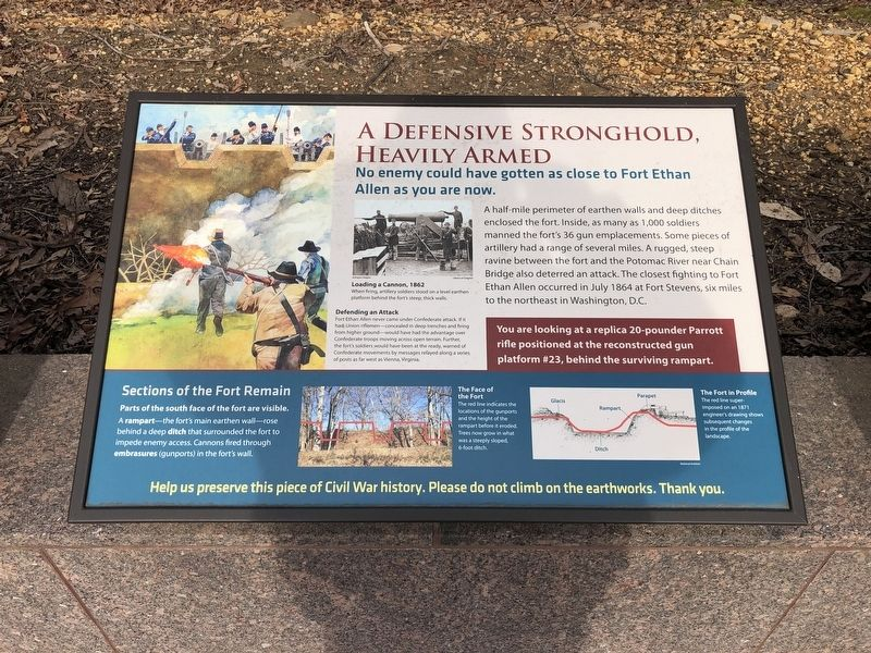 A Defensive Stronghold, Heavily Armed Marker image. Click for full size.