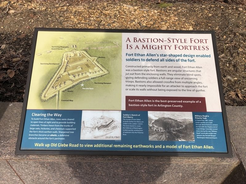 A Bastion-Style Fort Is a Mighty Fortress Marker image. Click for full size.