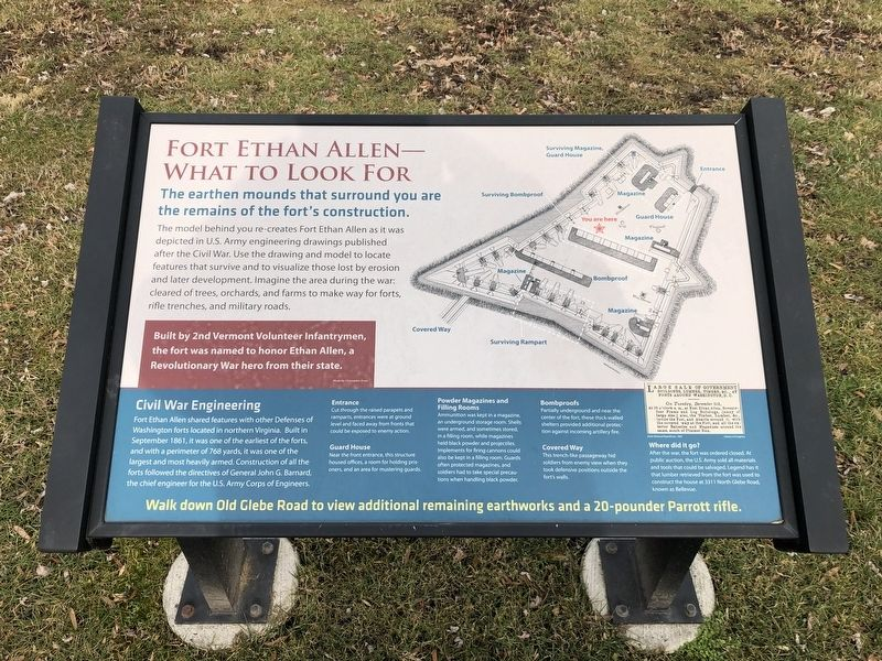 Fort Ethan Allen—What to Look For Marker image. Click for full size.