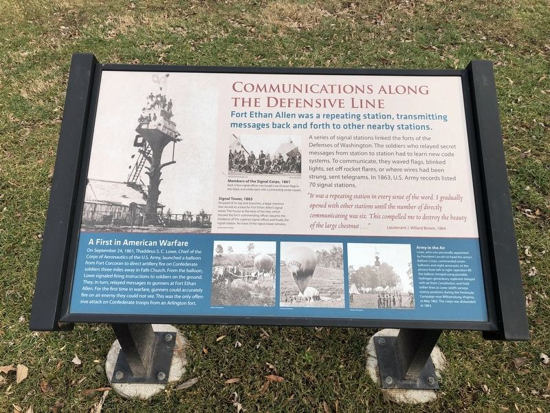 Communications along the Defensive Line Marker image. Click for full size.