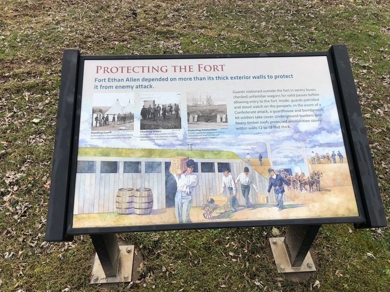 Protecting the Fort Marker image. Click for full size.