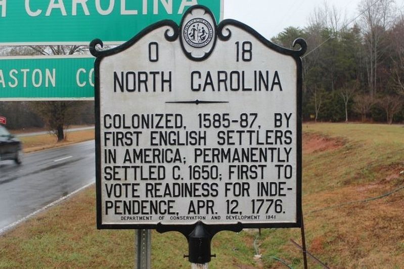 North Carolina side of marker image. Click for full size.