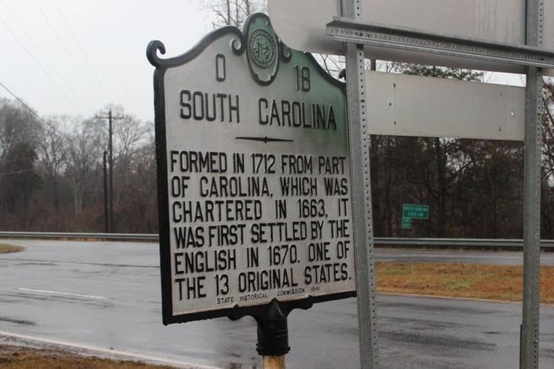 South Carolina side of Marker image. Click for full size.