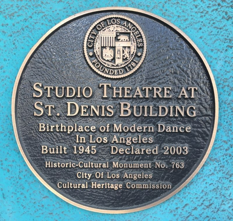Studio Theatre Marker image. Click for full size.