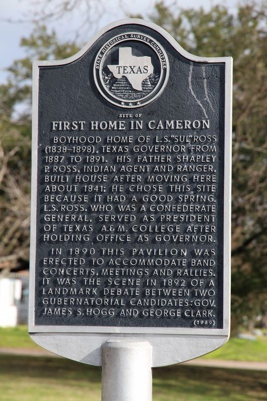 Site of First Home in Cameron Marker image. Click for full size.