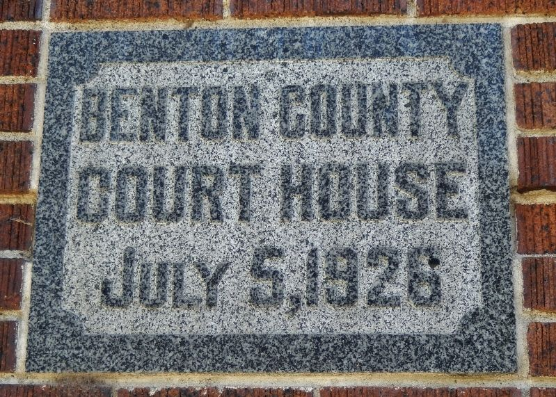 Benton County Courthouse Cornerstone image, Touch for more information