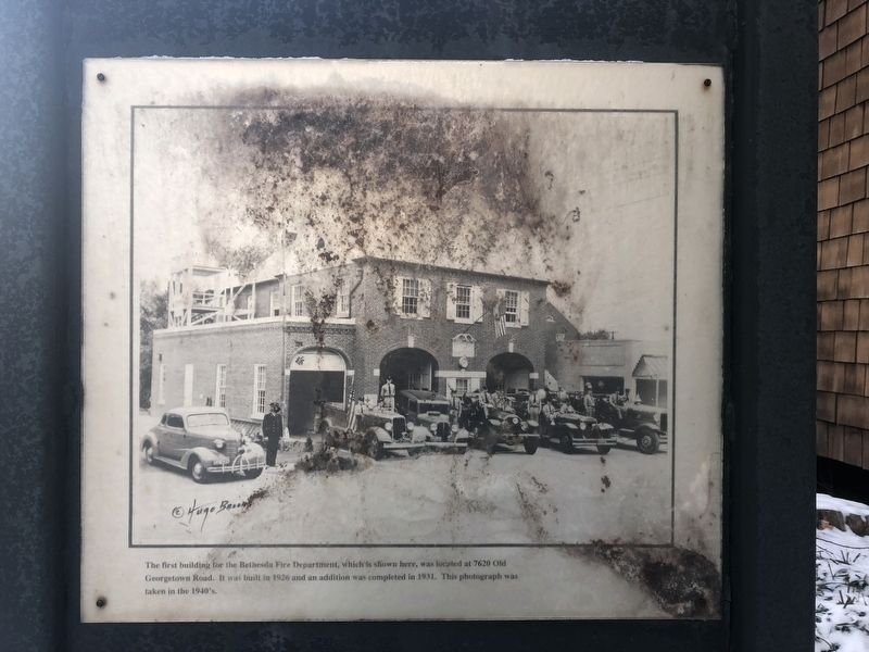 The First Building for the Bethesda Fire Department Marker image. Click for full size.