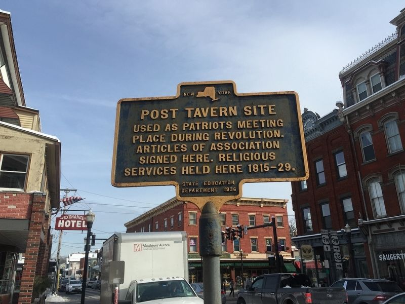 Post Tavern Site Marker image. Click for full size.
