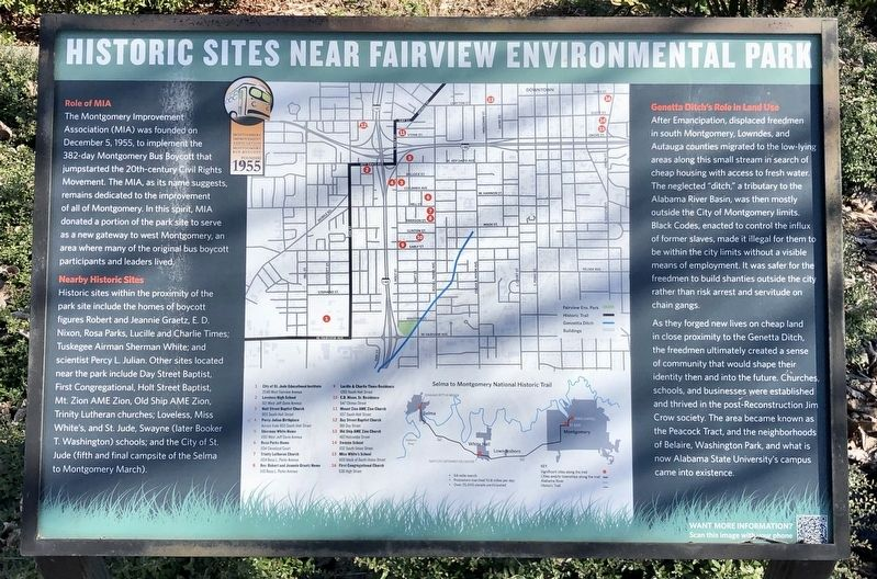 Historic Sites Near Fairview Environmental Park Marker image. Click for full size.