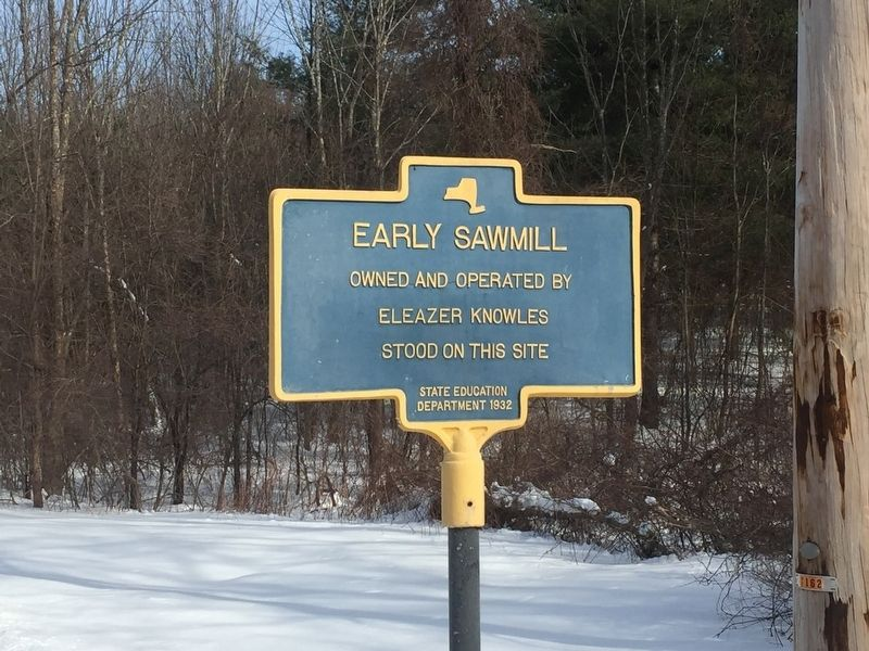 Early Sawmill Marker image. Click for full size.